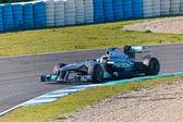 Team Mercedes F1, Nico Rosberg, 2011 — Stock Photo