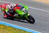 Juanfran Guevara pilot of 125cc of the CEV Championship — Stock Photo
