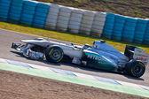 チームのニコ ・ ロズベルグ メルセデス f1 2011 — ストック写真