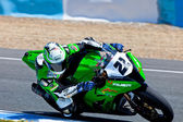 Ivan Silva pilot of Stock Extreme of the CEV Championship — Stock Photo