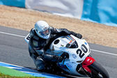 Juan Alonso pilot of Stock Extreme of the CEV Championship — Stock Photo