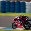 Stock Photo: Pilot of motorcycling of 125cc in Spanish championship of ve