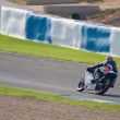 Pilot of motorcycling of 125cc in the Spanish championship of ve — 图库照片