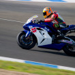 Pilot of motorcycling of Formula Extreme in the Spanish champion - Stockfoto