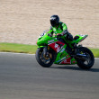 Pilot of motorcycling of Formula Extreme in the Spanish champion — Foto Stock
