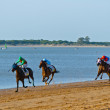 Horse race on Sanlucar of Barrameda, Spain, August  2011 — Zdjęcie stockowe