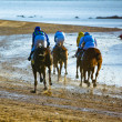 Horse race on Sanlucar of Barrameda, Spain, August  2011 — ストック写真