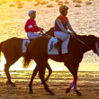 Horse race on Sanlucar of Barrameda, Spain, August  2011 - Foto de Stock  