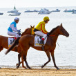 Horse race on Sanlucar of Barrameda, Spain, August  2011 - Stock fotografie