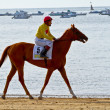 Horse race on Sanlucar of Barrameda, Spain, August  2011 - Стоковая фотография