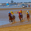 Horse race on Sanlucar of Barrameda, Spain, August  2011 — Foto Stock