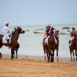 Horse race on Sanlucar of Barrameda, Spain, August  2010 — Stok fotoğraf