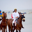Horse race on Sanlucar of Barrameda, Spain, August  2010 — Stock Photo