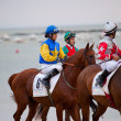 Horse race on Sanlucar of Barrameda, Spain, August  2010 — 图库照片
