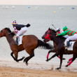Horse race on Sanlucar of Barrameda, Spain, August  2010 — Foto Stock