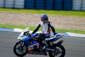 Pilot of motorcycling of Supersport in the Spanish championship — Stock Photo