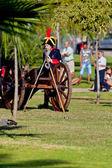 Historical military reenacting — Stock Photo