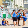 Match of the 19th league of beach handball, Cadiz — 图库照片