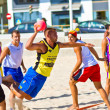 Match of the 19th league of beach handball, Cadiz — Stockfoto