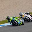 Torres and Arcas pilot of MOTO2 in the CEV — Stock Photo