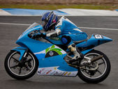 Andre Pires pilot of 125cc in the CEV — Stock Photo