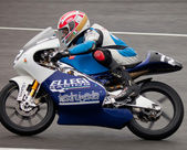 Federico Fazzina pilot of 125cc in the CEV — Stock Photo