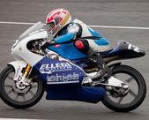Federico fazzina piloot van 125cc in het cev — Stockfoto