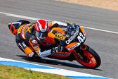 Piloto de alex rins de 125cc do campeonato cev — Foto Stock