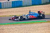 团队的迈凯轮 f1、 刘易斯 · 汉密尔顿 2011年 — 图库照片