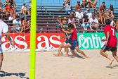 西班牙冠军的沙滩足球,2005 — 图库照片