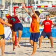 Match of the 19th league of beach handball, Cadiz — Stock Photo