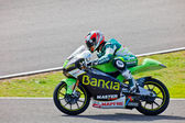 Hector Faubel pilot of 125cc of the MotoGP — Stock Photo
