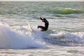 Surfista en el 2 º campeonato impoxibol, 2011 — Foto de Stock
