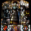 Foto Stock: Stained glass window