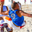 Match of 19th league of beach handball, Cadiz — Stock Photo #8707219