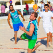 图库照片: Match of 19th league of beach handball, Cadiz