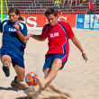 Stock Photo: Spanish Championship of Beach Soccer , 2005