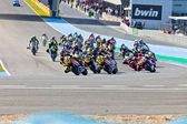Begin of the race of Moto2 of the CEV Championship — Stock Photo