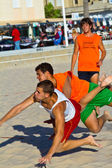 Plaj hentbol, cadiz 19 ligi maç — Stok fotoğraf