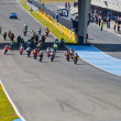 Foto Stock: Begin of race of Moto2 of CEV Championship