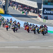 Begin of the race of Moto2 of the CEV Championship - Stock fotografie