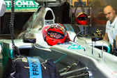 Team Mercedes F1, Michael Schumacher, 2012 — Stock Photo