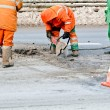 Upgrading road surfaces during roadworks — Stock Photo