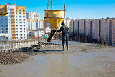 Commercial concreting and building reinforced concrete structures — Stock Photo