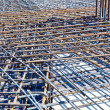 Floor at construction site ready for a concrete pouring — Stock Photo