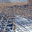 Stock Photo: Floor at construction site ready for concrete pouring