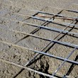 Stock Photo: Rebar grids during concreting