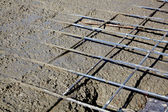 Rebar grids during concreting — Stock Photo