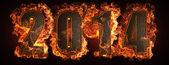 Hořící rok — Stock fotografie