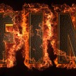 Burning word — Stock Photo